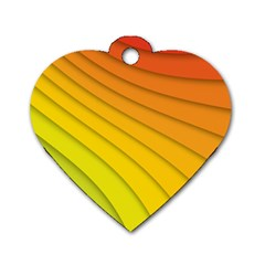 Abstract Pattern Lines Wave Dog Tag Heart (two Sides)