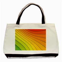 Abstract Pattern Lines Wave Basic Tote Bag (two Sides)