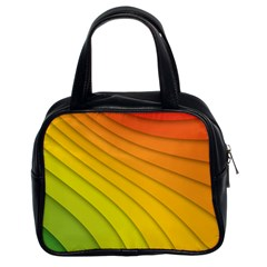 Abstract Pattern Lines Wave Classic Handbags (2 Sides)