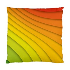 Abstract Pattern Lines Wave Standard Cushion Case (One Side)