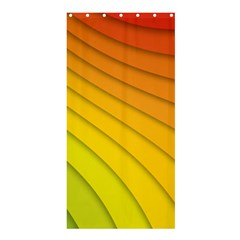 Abstract Pattern Lines Wave Shower Curtain 36  X 72  (stall)
