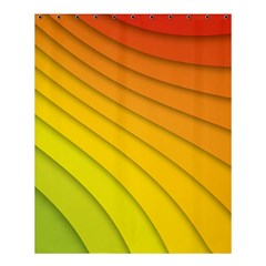 Abstract Pattern Lines Wave Shower Curtain 60  x 72  (Medium)