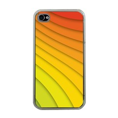 Abstract Pattern Lines Wave Apple iPhone 4 Case (Clear)