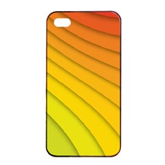Abstract Pattern Lines Wave Apple iPhone 4/4s Seamless Case (Black)