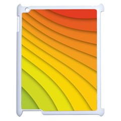 Abstract Pattern Lines Wave Apple iPad 2 Case (White)