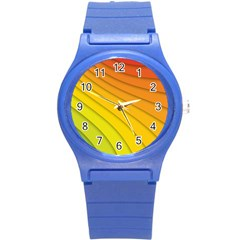 Abstract Pattern Lines Wave Round Plastic Sport Watch (s)