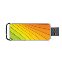 Abstract Pattern Lines Wave Portable Usb Flash (one Side)