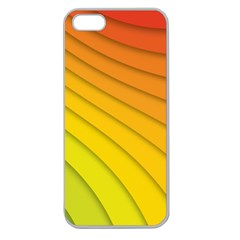 Abstract Pattern Lines Wave Apple Seamless iPhone 5 Case (Clear)