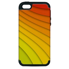 Abstract Pattern Lines Wave Apple iPhone 5 Hardshell Case (PC+Silicone)