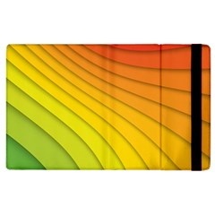 Abstract Pattern Lines Wave Apple Ipad 2 Flip Case