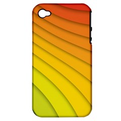 Abstract Pattern Lines Wave Apple Iphone 4/4s Hardshell Case (pc+silicone)