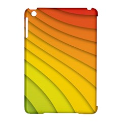 Abstract Pattern Lines Wave Apple Ipad Mini Hardshell Case (compatible With Smart Cover)