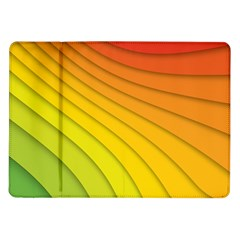 Abstract Pattern Lines Wave Samsung Galaxy Tab 10.1  P7500 Flip Case