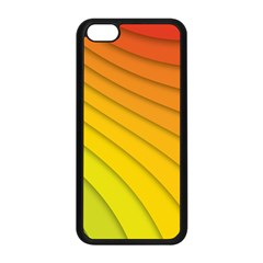 Abstract Pattern Lines Wave Apple Iphone 5c Seamless Case (black)