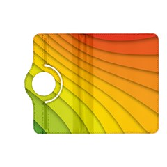 Abstract Pattern Lines Wave Kindle Fire HD (2013) Flip 360 Case
