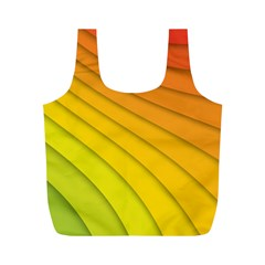 Abstract Pattern Lines Wave Full Print Recycle Bags (m)