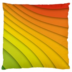 Abstract Pattern Lines Wave Large Flano Cushion Case (two Sides)
