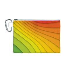 Abstract Pattern Lines Wave Canvas Cosmetic Bag (m)