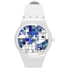 Design Round Plastic Sport Watch (m)