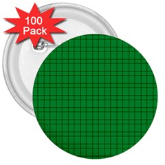 Pattern Green Background Lines 3  Buttons (100 pack)
