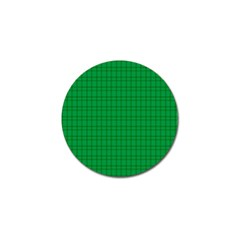 Pattern Green Background Lines Golf Ball Marker (4 pack)
