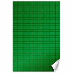 Pattern Green Background Lines Canvas 24  X 36