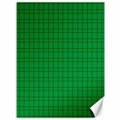 Pattern Green Background Lines Canvas 36  X 48