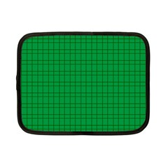 Pattern Green Background Lines Netbook Case (small)