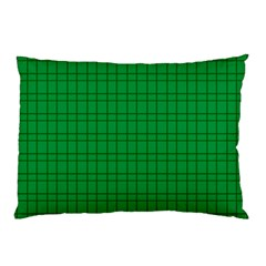 Pattern Green Background Lines Pillow Case
