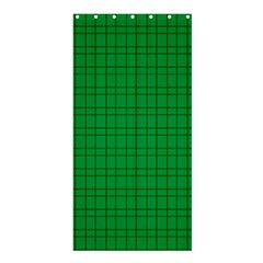 Pattern Green Background Lines Shower Curtain 36  x 72  (Stall)