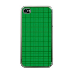 Pattern Green Background Lines Apple iPhone 4 Case (Clear)