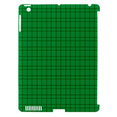 Pattern Green Background Lines Apple iPad 3/4 Hardshell Case (Compatible with Smart Cover)