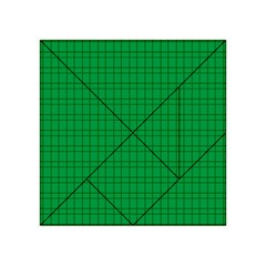 Pattern Green Background Lines Acrylic Tangram Puzzle (4  X 4 )