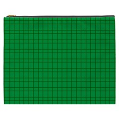 Pattern Green Background Lines Cosmetic Bag (xxxl)