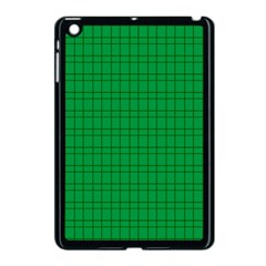 Pattern Green Background Lines Apple Ipad Mini Case (black)