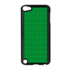 Pattern Green Background Lines Apple Ipod Touch 5 Case (black)