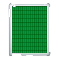 Pattern Green Background Lines Apple iPad 3/4 Case (White)