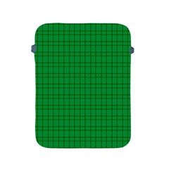 Pattern Green Background Lines Apple Ipad 2/3/4 Protective Soft Cases