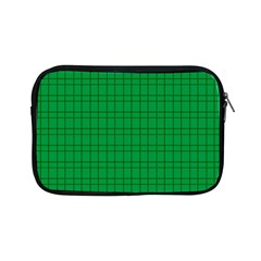 Pattern Green Background Lines Apple Ipad Mini Zipper Cases