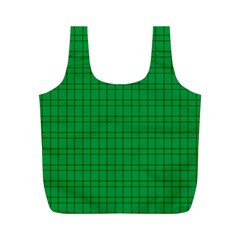 Pattern Green Background Lines Full Print Recycle Bags (m)