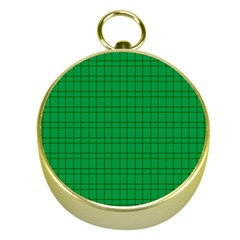 Pattern Green Background Lines Gold Compasses