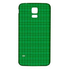 Pattern Green Background Lines Samsung Galaxy S5 Back Case (white)