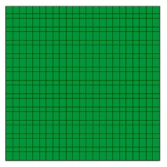 Pattern Green Background Lines Large Satin Scarf (Square)