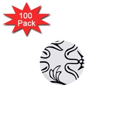 Decoration Pattern Design Flower 1  Mini Buttons (100 Pack)