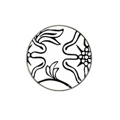 Decoration Pattern Design Flower Hat Clip Ball Marker (4 Pack)