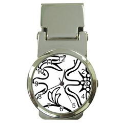 Decoration Pattern Design Flower Money Clip Watches