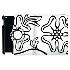 Decoration Pattern Design Flower Apple iPad 3/4 Flip 360 Case