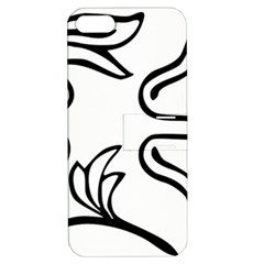 Decoration Pattern Design Flower Apple iPhone 5 Hardshell Case with Stand