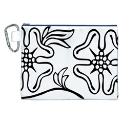 Decoration Pattern Design Flower Canvas Cosmetic Bag (XXL)