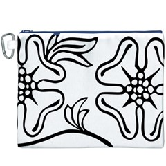 Decoration Pattern Design Flower Canvas Cosmetic Bag (XXXL)